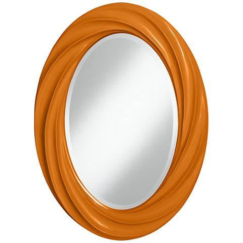 """Cinnamon Spice 30"""" High Oval Twist Wall Mirror"""