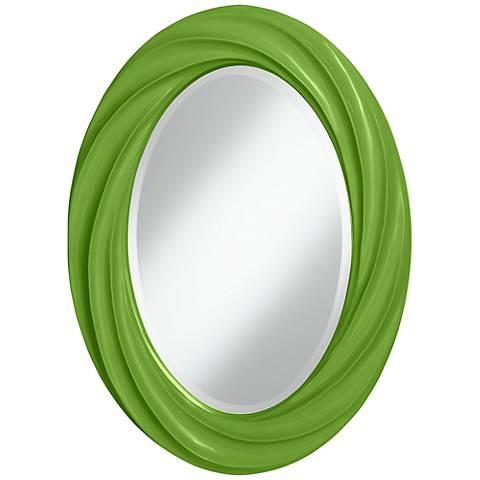 "Rosemary Green 30"" High Oval Twist Wall Mirror"