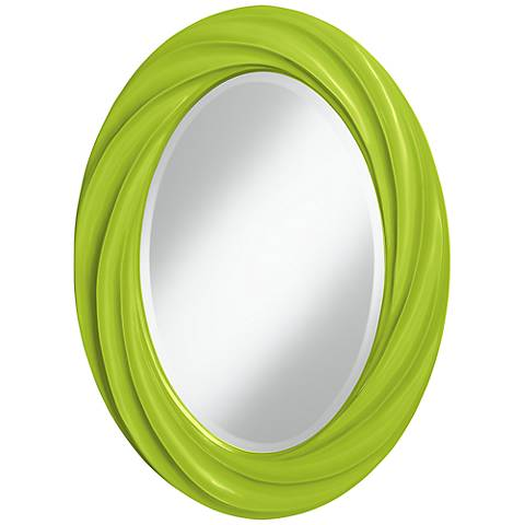 "Tender Shoots 30"" High Oval Twist Wall Mirror"