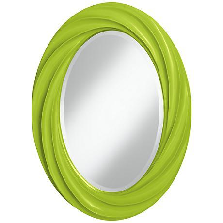 "Tender Shoots 30"" High Oval Twist Wall Mirror"