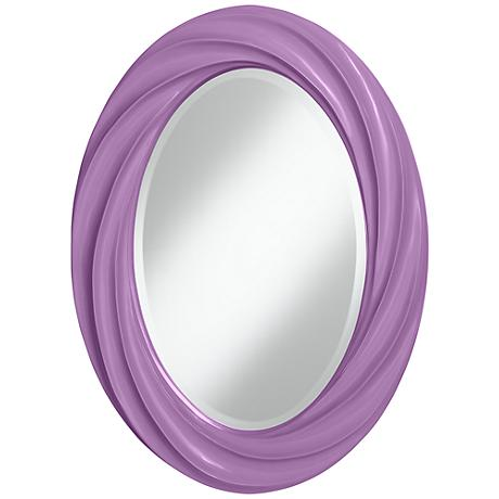 "African Violet 30"" High Oval Twist Wall Mirror"