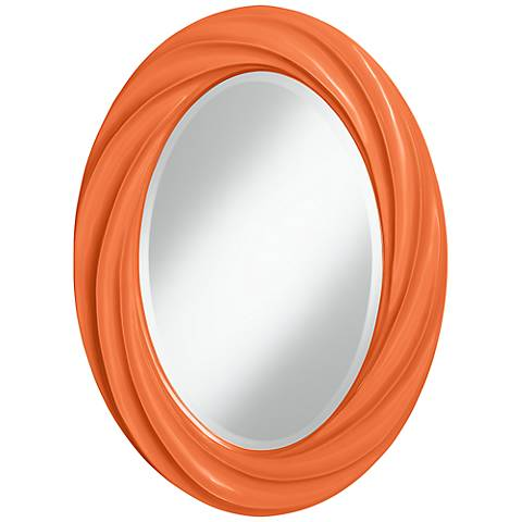 "Nectarine 30"" High Oval Twist Wall Mirror"