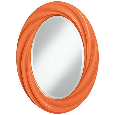 "Nectarine 30"" High Oval Twist Wall Mirror"