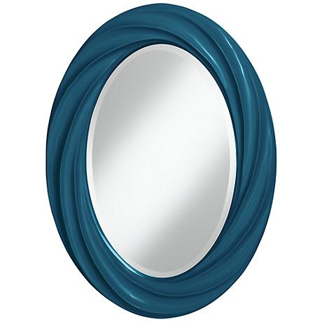 "Oceanside 30"" High Oval Twist Wall Mirror"