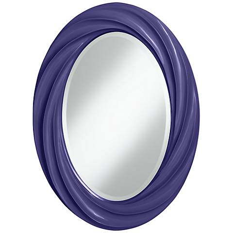 "Valiant Violet 30"" High Oval Twist Wall Mirror"