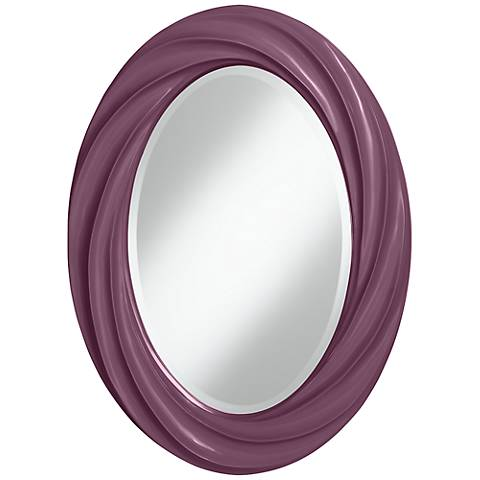 "Grape Harvest 30"" High Oval Twist Wall Mirror"