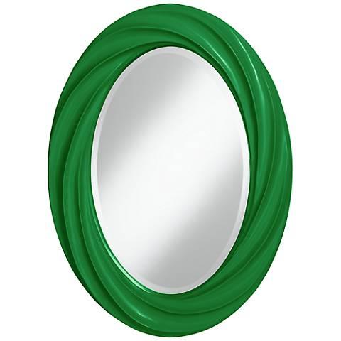 """Envy 30"""" High Oval Twist Wall Mirror"""