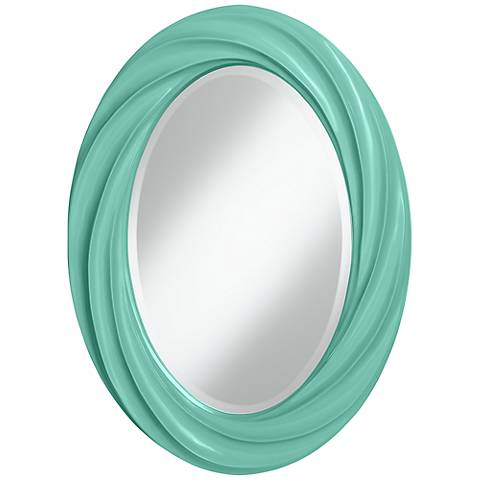 "Larchmere 30"" High Oval Twist Wall Mirror"