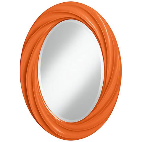 "Invigorate 30"" High Oval Twist Wall Mirror"