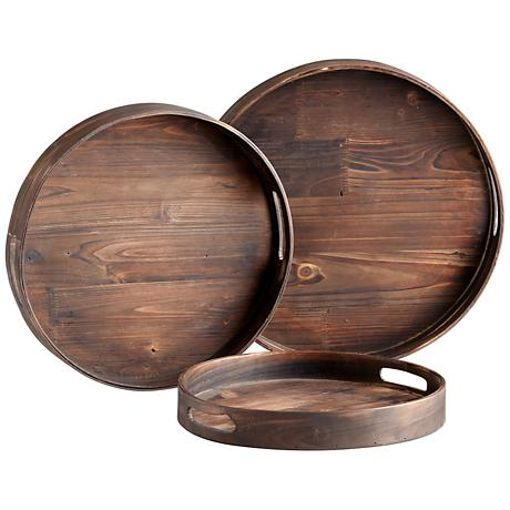 Dupre Set of 3 Round Trays