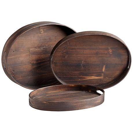 Dupre Set of 3 Oval Trays