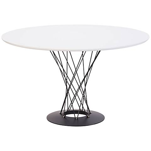 Zuo Spiral White Steel Table