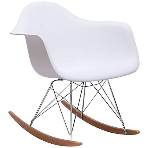 Zuo Rocket White Steel Chair
