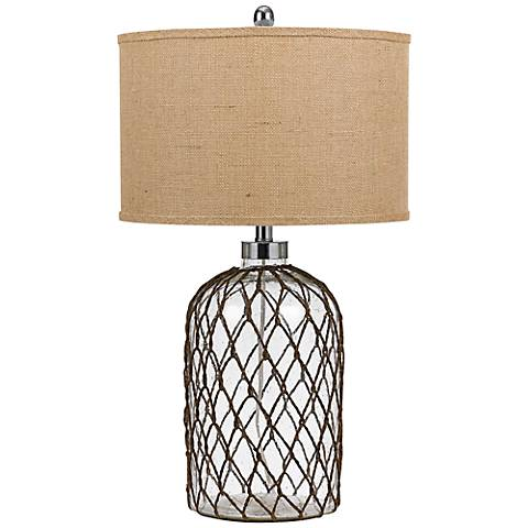 Jupiter Mesh and Clear Glass Table Lamp