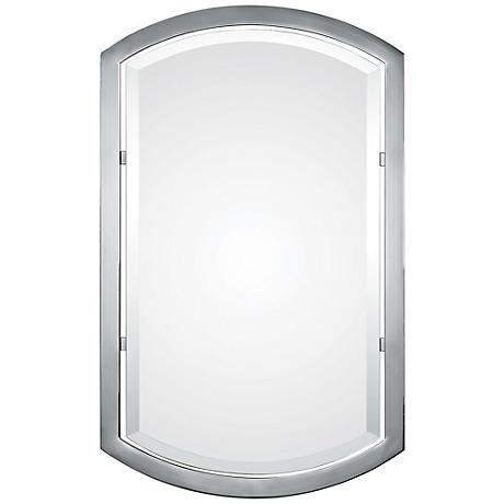 """Uttermost Jacklyn 23"""" x 37"""" Polished Chrome Wall Mirror"""