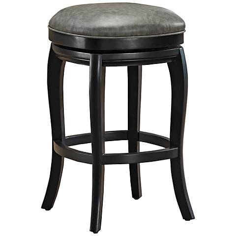 american heritage madrid black swivel 26 counter stool 3x068 lamps plus. Black Bedroom Furniture Sets. Home Design Ideas