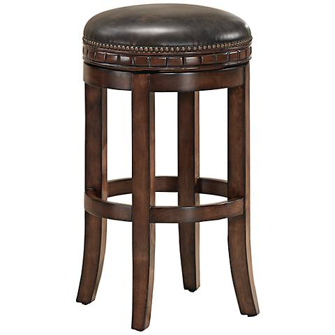 "American Heritage Sonoma Suede Swivel 30"" Bar Stool"