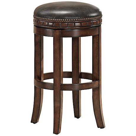 heritage sonoma suede swivel 30 bar stool 3x084 lamps plus. Black Bedroom Furniture Sets. Home Design Ideas