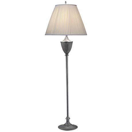 Stiffel Urn Style Pewter Traditional Floor Lamp