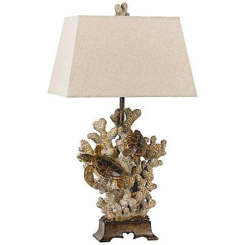 Coastal Coral Sandstone Table Lamp