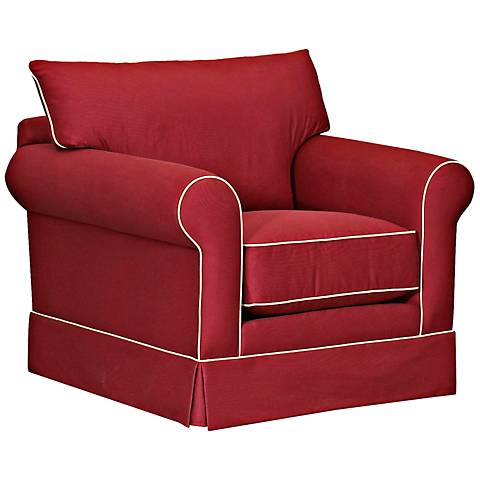 Klaussner Jenny Ranger Twill Flame Red Armchair