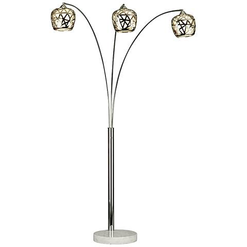 Nova Bird's Nest 3-Light Arc Floor Lamp