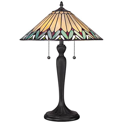 Quoizel Pearson Tiffany Style Table Lamp