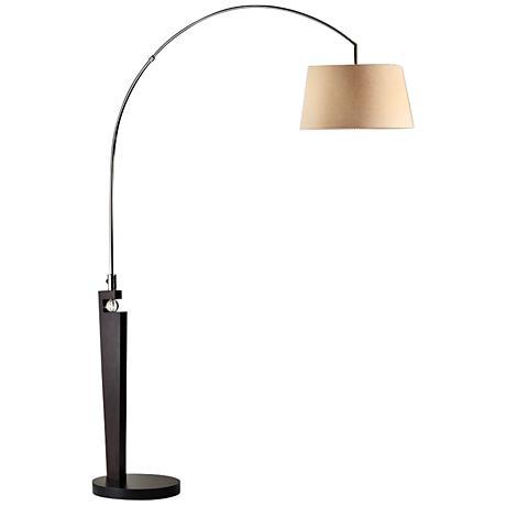 Nova Islington Black Nickel Arc Floor Lamp