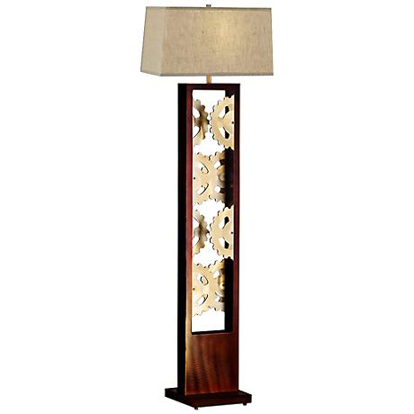 Wood floor lamps lamps plus for Sedona collection tiffany style floor lamp 22081