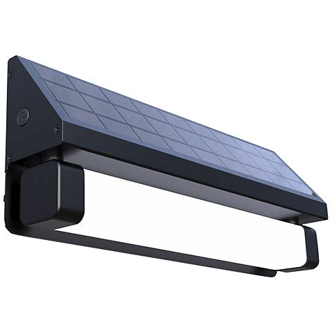 "Pure Digital 13 1/2"" Wide Black LED Solar Light"
