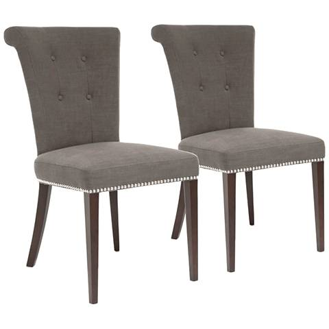 Set of 2 Luxe Sepia Dining Chairs