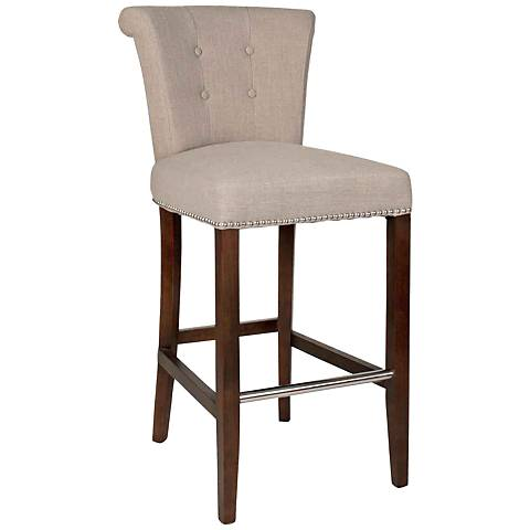 "Luxe 30"" Tufted Almond Armless Barstool"