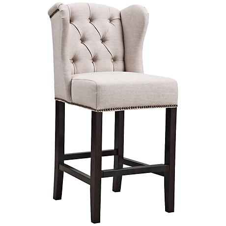"Maison 26"" Tufted Birch Fabric Counter Stool"