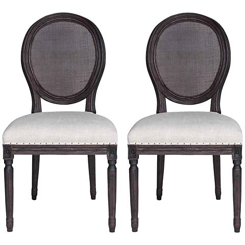 Set of 2 Oliver Rustic Java Dining Chairs