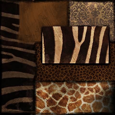 "Animal Print I 30"" Square Canvas Wall Art"