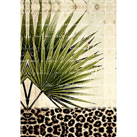 "Palm Leaves I 36"" Canvas Wall Art"