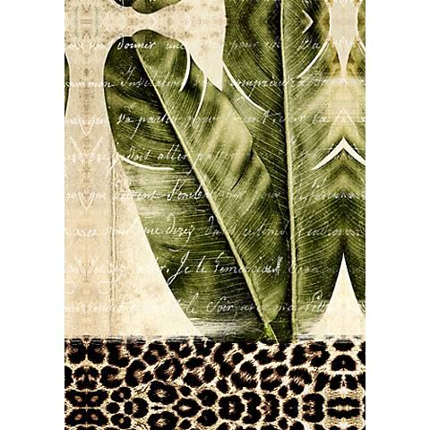 "Palm Leaves II 36"" Canvas Wall Art"