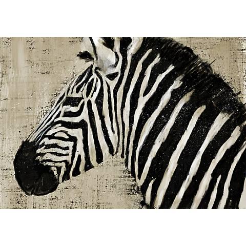 "Zebra 36"" Canvas Wall Art"