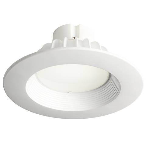 """5/6"""" Recessed 18 Watt-1110 Lumens LED Retrofit Trim in White"""