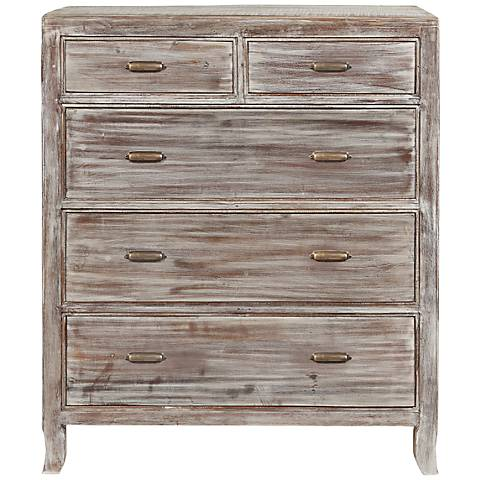 Aria Distressed Wood 5-Drawer Chest