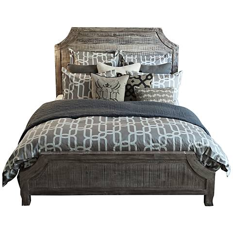 Aria Distressed Wood Bed