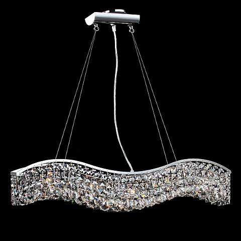 "James R. Moder Impact Wave 36"" Wide Imperial Crystal Pendant"