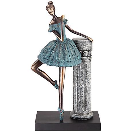 "Dahlia Studios Elegant Ballerina 12 3/4"" High Sculpture"