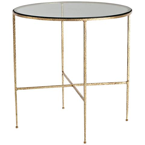 Arteriors Home Winchester Gold Leaf Side Table