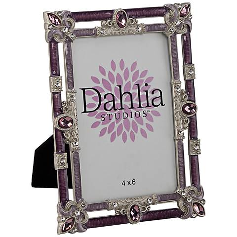 Dahlia Studios Purple Fleur de Lis 4x6 Photo Frame