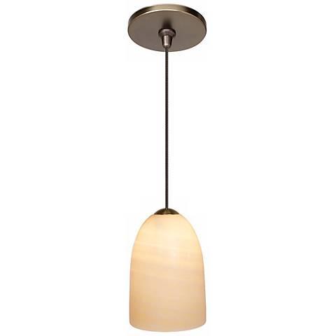 """LBL Onyx 4"""" Wide Dome Bronze Mini Pendant"""