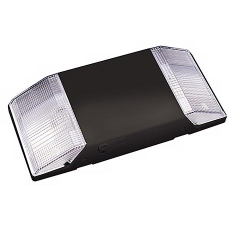 Self-Contained Black Emergency Light