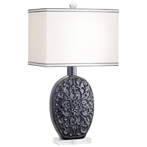 Natoli Blue Ceramic Table Lamp
