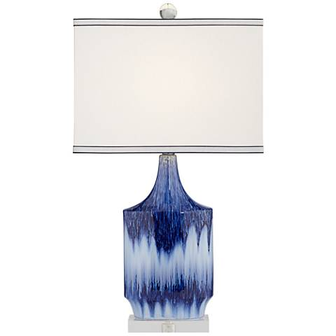 Dusky Blue Ceramic Table Lamp