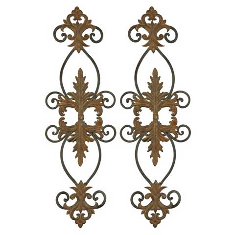 Metal Wall Art Lamps Plus : European Scrolls Set of Two Traditional Metal Wall Art - #41391 Lamps Plus